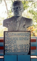 Bust of M.Irineu in tomb