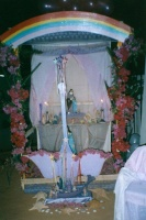 Altar outside church
