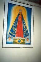 Patron saint of Brazil, on outside wall of church
