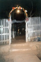 Entrance to Barquinha church, Rio Branco